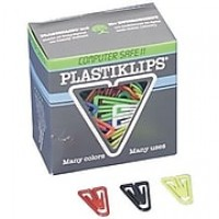 Baumgartens X-Large Plastiklips Clips, Assorted Colors, Extra Large Size, 50/Bx