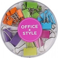 Office + Style Assorted Sized Colored Binder Clips, 26 pcs