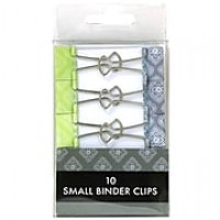 JAM Paper® Colored Binder Clips, Small, 19mm, Green and Grey Binder Clips, 10/Pack (336128597)