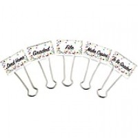"Teacher Created Resource Binder Clips, Large, 1"" wide, 5/Pk (TCR20855)"