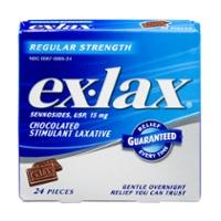 Ex-Lax Stimulant Laxative Regular Strength Chocolated