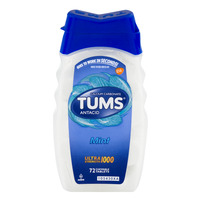 TUMS Antacid Calcium Carbonate Ultra Strength 1000 Mint