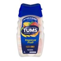 TUMS Antacid Calcium Carbonate Ultra Strength 1000 Tropical Fruit