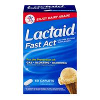 Lactaid Fast Act Lactase Enzyme Supplement Caplets