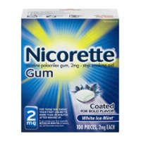 Nicorette Nicotine Gum 2 mg White Ice Mint