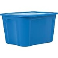 Bella Storage Solution® 18 Gallon Plastic Flat Lid Tote, 8/Case