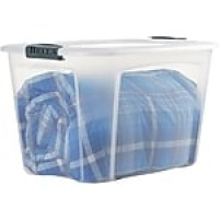 Bella Storage Solution® 121-Quart Container, Clear with Locking Lid