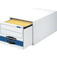 Bankers Box Stor/Drawer Steel Plus Storage Drawers, Legal, Stacks Up to 5 High, 6/Ct (00312)