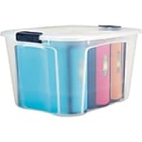 Bella Storage Solutions Locking Contemporary Container, 71qt., Clear Lid (601336)