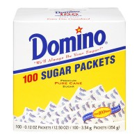 Domino Premium Pure Cane Sugar Packets - 100 ct
