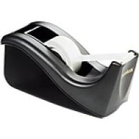 Scotch® Desktop Tape Dispenser, Black Two-Tone (C60-BK)