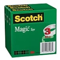 "Scotch® Magic™ Tape, 1/2"" x 36 yds., 3 Rolls (810H3)"
