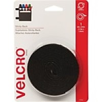 "VELCRO(R) brand STICKY BACK(R) Tape 3/4""X5', Black"