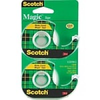 "Scotch® Magic™ Tape, 3/4"" x 16.67 yds., 2/Pack (122DM-2)"
