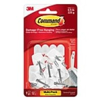 Command™ Small Wire Hooks Value Pack, White, 9/Pack (17067-9ES)