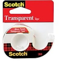 "Scotch® Transparent Tape with Built in Refillable Dispenser, 1/2"" x 12.5 yds., 1 Roll (144)"