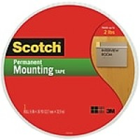 "Scotch® Mounting Tape, 3/4"" x 38 yds, 1/Pack"
