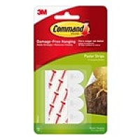 Command™ Poster Strips Value Pack, White, 12/Pack (17024)