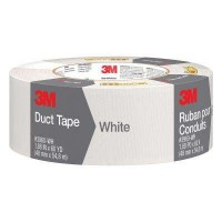 3M 1.88 in. x 60 yds. White Duct Tape (Case of 9)