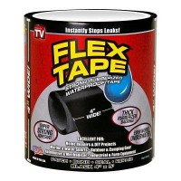Flex Tape 4 in. x 5 ft. Tape in Black