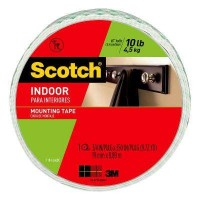 3M Scotch 0.75 in. x 9.72 yds. Permanent Double Sided Indoor Mounting Tape (Case of 8)