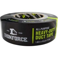 IRONFORCE 1.89 in. x 35 yd. All-Purpose Heavy-Duty Duct Tape in Gray