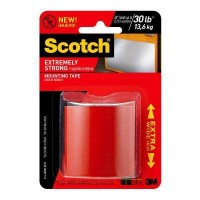 3M Scotch 2 in. x 1.33 yds. Permanent Double Sided Extreme Mounting Tape