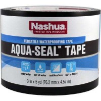 Nashua Tape 3 in. x 5 yds. Aqua-Seal Tape in Black