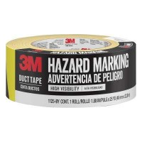 3M 1.88 in. x 25 yds. Black/Yellow Hazard Marking Duct Tape (Case of 12)
