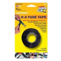Super Glue 1 in. x 10 ft. Black E-Z Fuse Silicone Tape