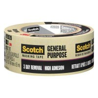 3M Scotch 1.88 in. x 60.1 yds. General Purpose Masking Tape (Case of 24)