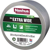 Nashua Tape 2.83 in. x 50 yd. 394 Extra Wide General Purpose Duct Tape in Silver