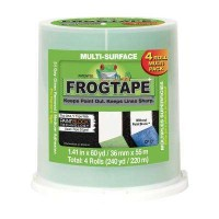 FrogTape Multi-Surface 1.41 in. x 60 yds. Green Painter's Tape with PaintBlock (4-Pack)