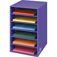 "Fellowes 6-Shelf Storage Organizer, 18""H x 12""W x 13 1/4""D, Purple"