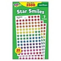 Trend Enterprises Star Smiles SuperShapes Stickers, Assorted (T-46917)