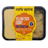 Cafe Spice Yellow Tofu Curry with Thai Fried Rice Medium Spice Level