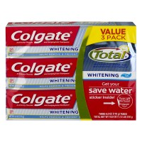 Colgate Total Whitening Anticavity Fluoride Toothpaste - 3 ct
