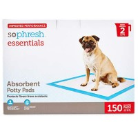 So Phresh Essentials Absorbent Potty Pads for Dogs, 150 Count