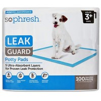 So Phresh Leak Guard Quilted Potty Pads, 100 CT