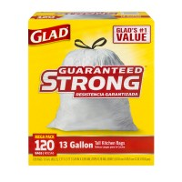 Glad Tall Kitchen Bags Drawstring 13 Gallon