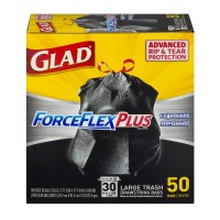 Glad ForceFlex Plus Tall Kitchen Bags Drawstring Large 30 Gallon