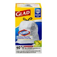 Glad Tall Kitchen Bags Guaranteed Strong Drawstring Clean Citrus 13 Gallon