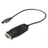 Belkin ™ Type-A USB/DB-9 Male/Male Portable Cable Adaptr Cable, Black (F5U409V1)