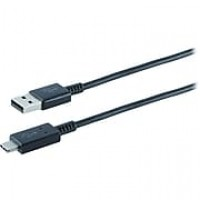 Staples 6.6' USB-C to USB 2.0 Type A Cable, Black