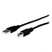 COMPREHENSIVE CABLE® 10' USB 2.0 A Male To B Male Cable, Black