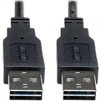 Tripp Lite 10' USB 2.0 Male to Male High Speed Cable, Black
