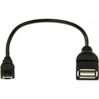 Rocstor Premier Micro USB to USB OTG Host Adapter M/F, 6in, USB Adapter for Tablet PC, 6""