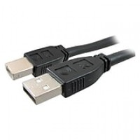 Comprehensive 25' USB Male to Male Data Transfer Cable, Black