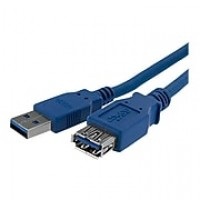 StarTech 3.3' Superspeed USB 3.0 Type A Male To Type A Female Extension Cable, Blue
