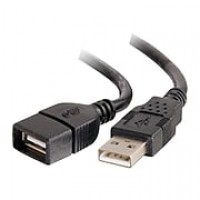 C2G 2m USB 2.0 A Male to A Female Extension Cable for Laptops and Mobile Devices - Black (6.6ft)